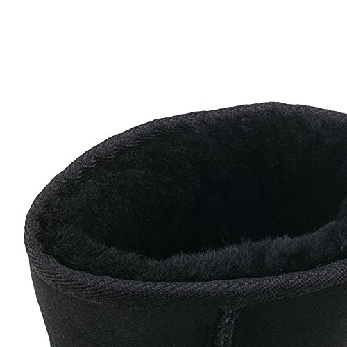 Sheepskin Women's Boots Black Classic Half AUSLAND Snow nESx41ndR