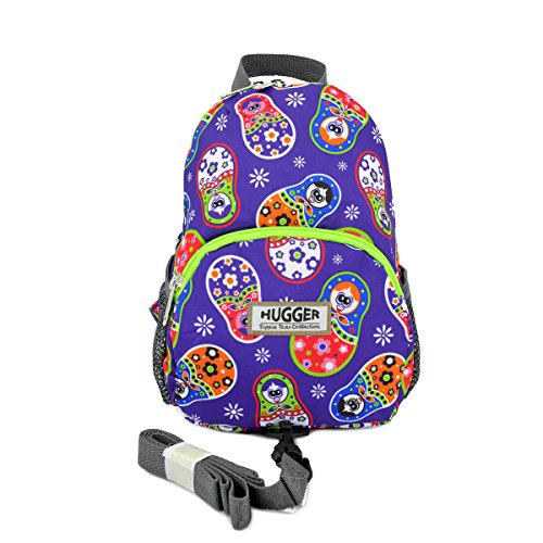 Pocket Hugger (Hugger Totty Tripper little kids and Toddler Backpack with Harness Strap (Russian Dolls))