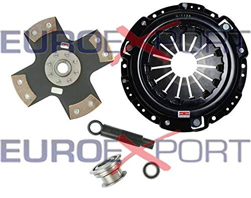 Competition Clutch Disc and Pressure Plate Kit for Honda H22 Prelude 2.0L 2.1L Ceramic 4 Puck Rigid/Solid Stage 5 ()