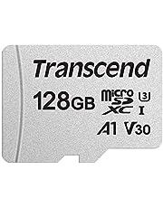 Transcend Ts128Gusd300S Microsdxc Geheugenkaart, I, U3, V30, A1, Zilver, 128Gb