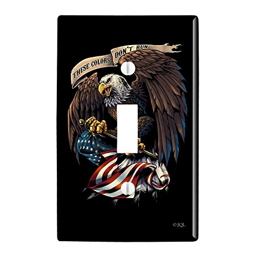 GRAPHICS & MORE These Colors Don't Run Patriotic Eagle USA American Flag Plastic Wall Decor Toggle Light Switch Plate Cover