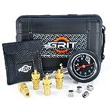 Grit Performance Tire Deflators with 80 PSI Tire Pressure Gauge + Bonus Chrome Valve Caps | Automatic, Adjustable Deflator Tool Kit for Off Road Tires, Jeep, Truck, Car, ATV, 4x4 Sand & Rock Crawling