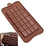 CrazyKitchenDecor 24 Cavity Square Silicone Chocolate Molds DIY Silicone Bakeware Stable Cake Jelly Molds