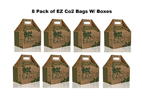 8pc / CASE EZ CO2 Bags Natural CO2 Production High Yield Generator (USA - LOWER 48 STATES ONLY) by EZ CO2