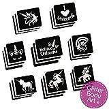 Unicorn Glitter Tattoo Stencil Pack x 24