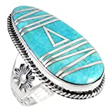 #6: Sterling Silver Genuine Gemstones & Turquoise Ring (SELECT color)