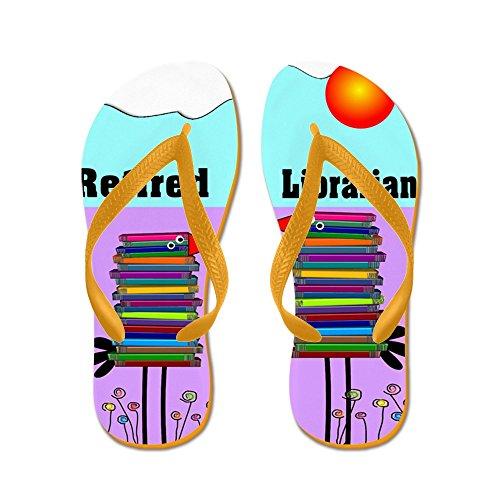 Bibliotecario In Pensione Caffetteria - Infradito, Sandali Infradito Divertenti, Sandali Da Spiaggia Arancione