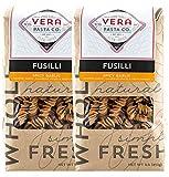 Vera Pasta Spicy Garlic Fusilli - Gourmet Italian Pasta for Authentic Taste & Texture - Artisan, Fresh Pasta Made in the USA - All Natural, High-Protein Fusilli Pasta - 2 Pounds