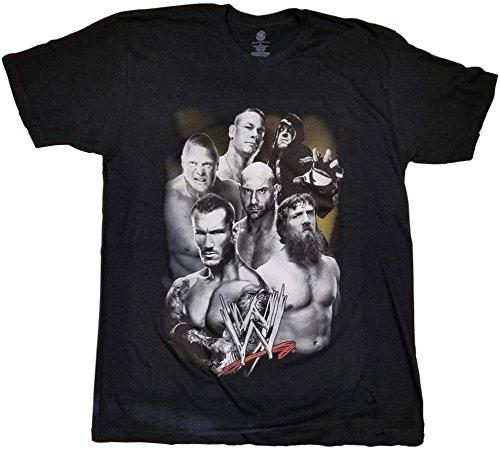 (Classic Brock Lesnar, John Cena, Daniel Bryan 2014 WWE Mens T-Shirt-L)