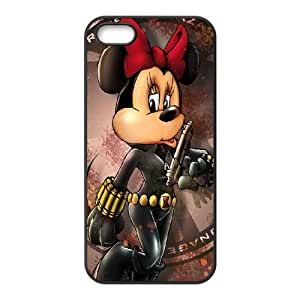 iPhone 5 5s Cell Phone Case Black Minnie Mouse 4 Lwcxz