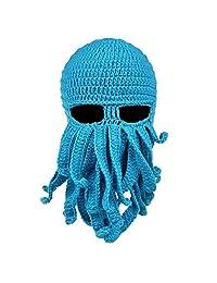 Unisec Beard Hat Beanie Hat Knit Hat Winter Warm Octopus Windproof Funny Hat