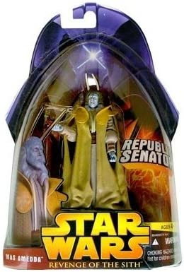 Amazon Com Star Wars E3 Revenge Of The Sith Action Figure 40 Mas Amedda Republic Senat By Puzzle Zoo Toys Games