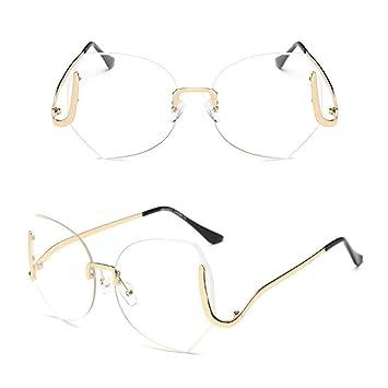 NHQA Gafas de Sol Gafas de Sol graduadas sin aro para Mujer ...