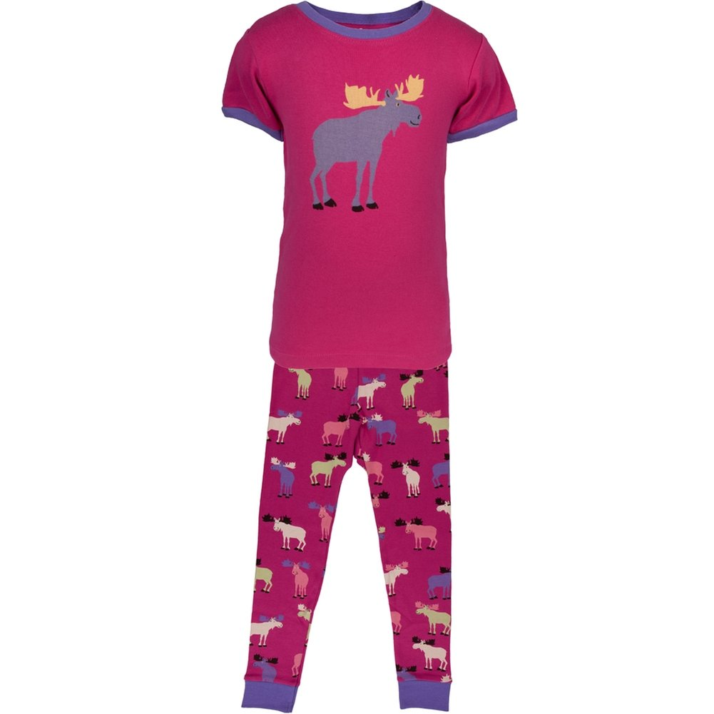 Raspberry Moose All-Over Juvy Pajama Set Animal World