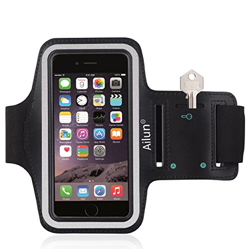 Ailun Phone Armband Compatible with iPhone X Xs XR Xs Max Feartured with Sport Scratch Resistant Material Slim Light Weight Dual Arm Size Slots Sweat Resistant Key Pocket with Headphone Ports Black