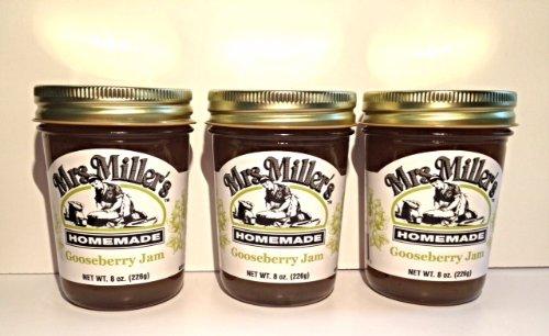 Gooseberry Jam: 3 jars Mrs Millers Homemade by Mrs. Miller's
