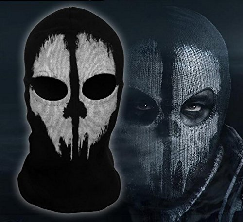 Cod Ghost Costume (Cosplaywho Call of Duty COD 10 Balaclavas Ghost Skull Mask)