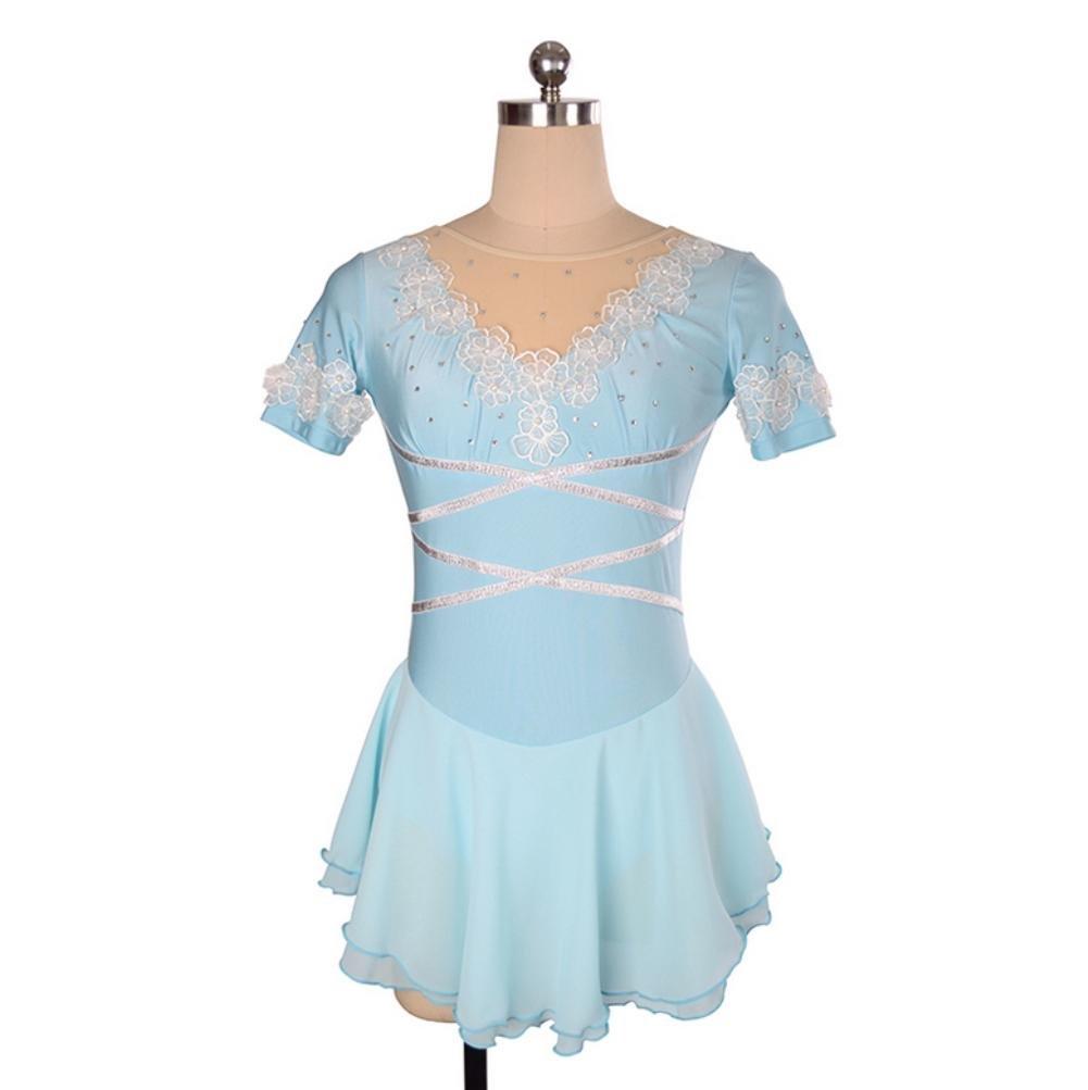 Costume di Pattinaggio Artistico a Figura Intera per Le Donne Heart/&M Vestito da Pattinaggio sul Ghiaccio per Ragazze