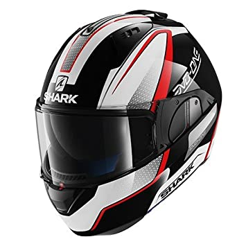 Shark - Casco de moto Evo One Astor KWR, negro y rojo, talla M
