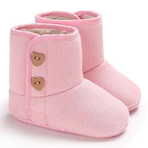 Invierno Bebe Fossen De Botas Zapatos Cálidas Niña Rosa Algodón Nieve AOSOqwxF