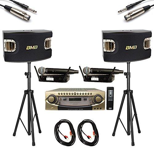 - BMB DAR-800II 600W 4-CH Karaoke Mixing Amplifier + CSV-900 1200W 12