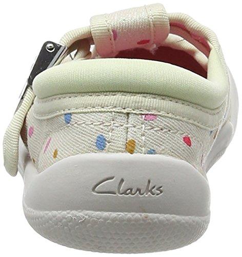 Clarks Briley Bow Fst, Botines de Senderismo para Bebés Beige (Cotton Combi)