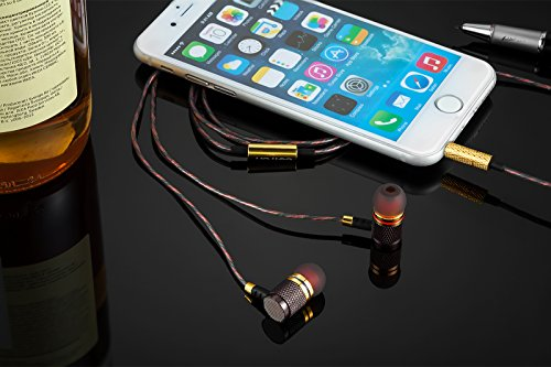 Betron YSM1000 Wired Earbuds, High Definition Earphones, Noise Isolating in Ear Headphones, Deep Bass, Crystal Clear Sound, Compatible with iPhone, iPad, Samsung, Sony, Tablets and Android Smartphones