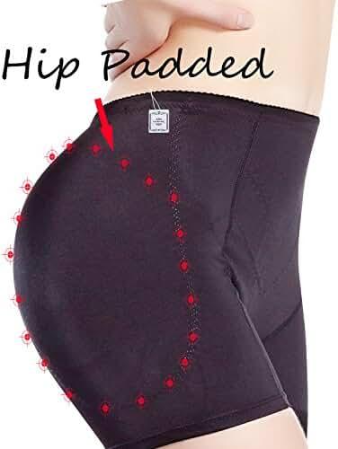 Junlan Women's Padded Seamless Butt Hip Enhancer Panties Boy Shorts