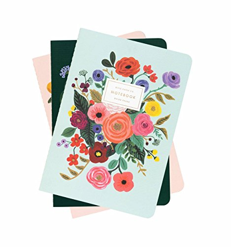 Paper Rifle - Garden Party Stitched Lined Notebooks, Set of 3