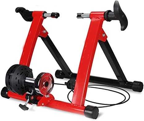Indoor Entrenamiento Magnético Bicicleta Accesorios De Carretera Montaña Plegables Soporte Estacionario Ciclismo Control De Linea para Ejercicio,Red: Amazon.es: Deportes y aire libre