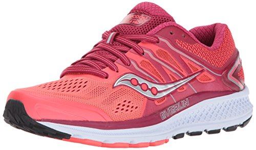 Saucony Women's Omni 16 Running Shoe, Berry Coral, 10 Medium US
