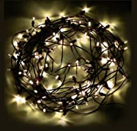 M&T Tech Solar Powered 100 LED Outdoor String Fairy Lights For Patio, Garden, Lawn, Christmas tree, Party, Wedding-Warm White by M&T Tech
