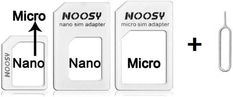 SingDeRing Juego de Tarjeta SIM de 3 adaptadores de Tarjeta SIM Compatible con Todos los tel/éfonos m/óviles//tel/éfonos Inteligentes incluida la Aguja de expulsi/ón