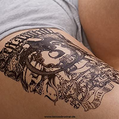 Eagle Totem HB143 - Tatuaje falso, diseño con texto en inglés ...