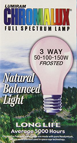 Chromalux Lumiram Full Spectrum 3 Way 50/100/150 Watts Frosted Light Bulb
