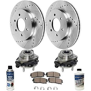 Amazon com: Detroit Axle - Both Front Wheel Bearing & Hub Assembly