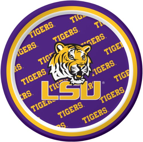 Creative Converting LSU Tigers Dessert Paper Plates (8 Count) -