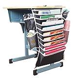 Desk Side Organizer Adjustable Hanging Caddy Book Storage SND15