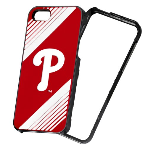 Forever Collectibles IPHNMBHRDSNP5PH Philadelphia Phillies Hard 2-Piece Snap-On AI5 Cover - Retail Packaging