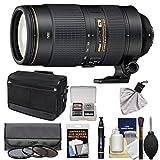 Nikon 80-400mm f/4.5-5.6G VR AF-S ED Nikkor-Zoom Lens + Shoulder Bag + 3 Filters Kit for D3200, D3300, D5300, D5500, D7100, D7200, D750, D810 Camera