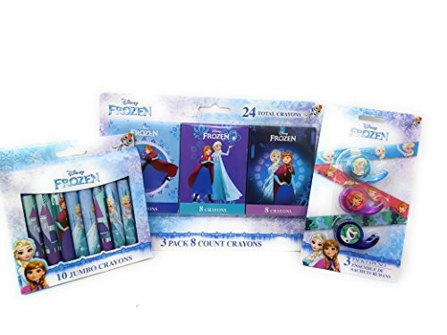 Pre-school School Supplies Crayons Tape Disney Frozen (3 Piece set)