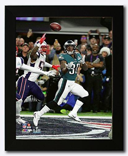 Philadelphia Eagles Corey Clement Scores a Touchdown During Super Bowl 52 Framed 8x10 Photo, (Framed 8x10 Philadelphia Eagles Photo)