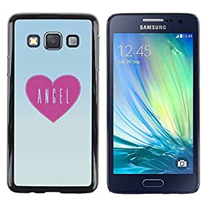 PC/Aluminum Funda Carcasa protectora para Samsung Galaxy A3 SM-A300 pizza love pink heart text pattern art / JUSTGO PHONE PROTECTOR