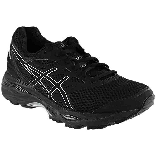 ASICS Women's Gel-Cumulus 18 Running Shoe (8.5 B(M) US, Black/Silver/Black)