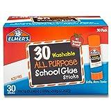 Elmer's Washable All-Purpose School Glue Sticks, .24 oz,  30 Pack (E556)