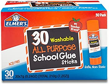 30-Pack Elmer's All Purpose School Glue Sticks Washable (0.24-ounce)