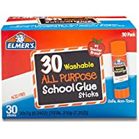 Elmer's All Purpose School Glue Sticks, Washable, 30...