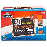 Arts & Crafts : Elmer's All Purpose School Glue Sticks, Washable, 30 Pack, 0.24-ounce sticks