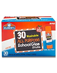 Elmer\'s All Purpose School Glue Sticks, Washable, 30 Pack, 0...