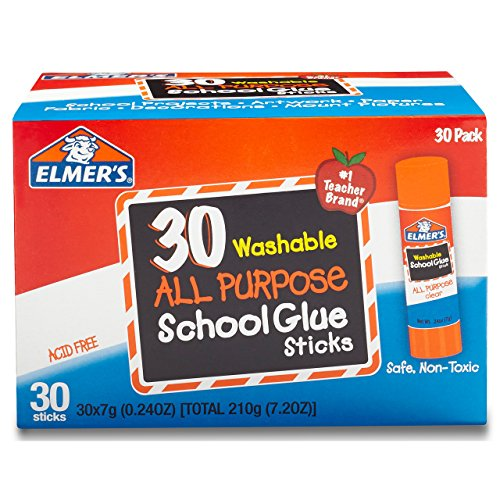 Elmer's All Purpose School Glue Sticks, Washable, 30 Pack, 0.24-ounce (Glue Pack)
